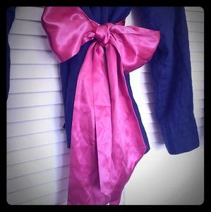 J. Crew 100% Silk Sash Belt in Hot Pink